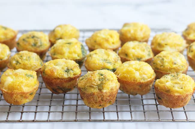 mini-spinach-egg-muffins-on-wire-rack