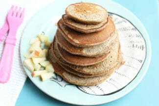Fluffy Applesauce Pancakes to Share With the Kids