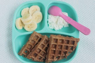 Healthy Chocolate Banana Waffles