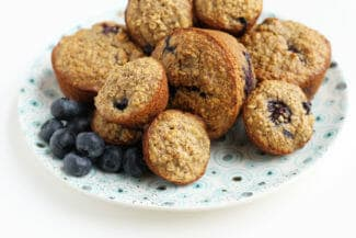 Blueberry Banana Muffins with Oats