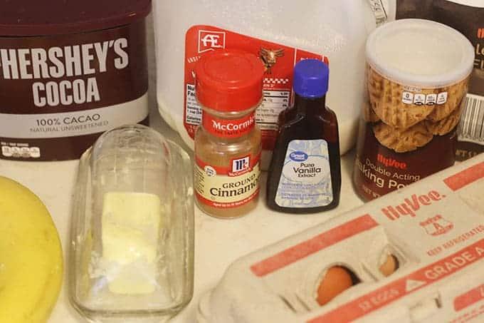 ingredients-in-chocolate-banana-waffles