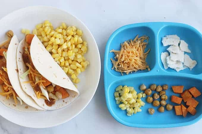 roasted-veggie-tacos-on-two-plates