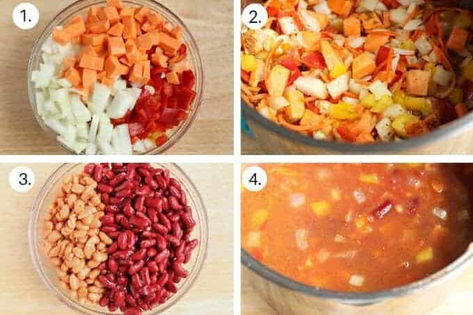 how to make vegetarian chili step-by-step