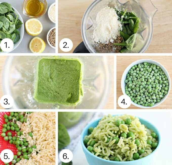 how to make spinach pesto step by step process