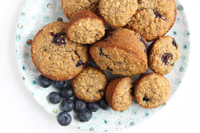 blueberry-banana-muffins-on-plate