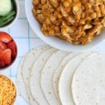 family style slow cooker chicken tacos