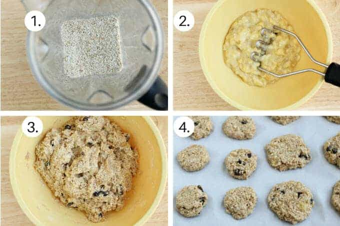 banana oatmeal breakfast cookies Step by Step