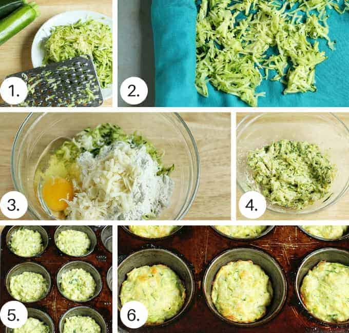 how to make baked zucchini fritters recipe step by step