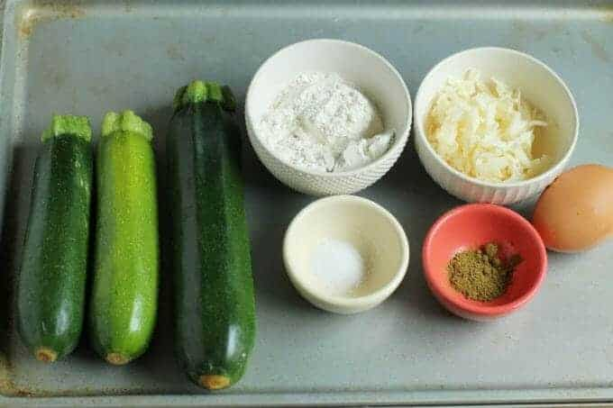 zucchini fritter recipe ingredients