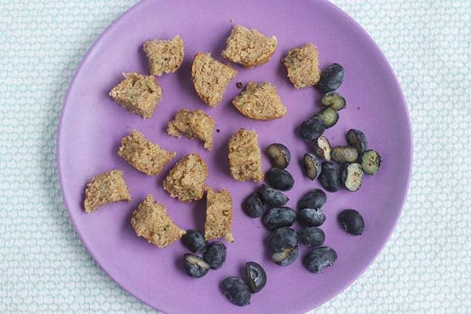 diced-zucchini-muffins-on-purple-plate