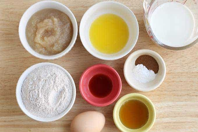 ingredients in baked apple donuts