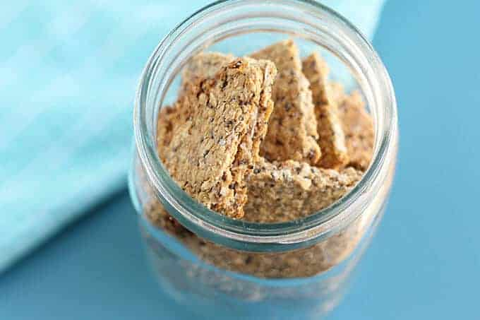 homemade granola bars in storage jars