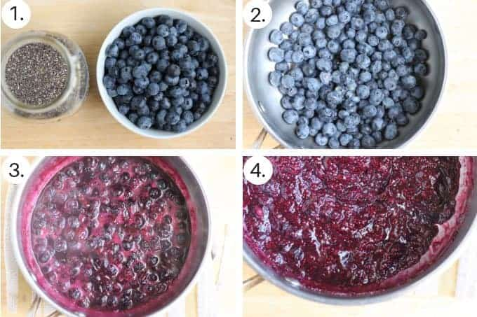 how to make blueberry chia seed jam step by step process