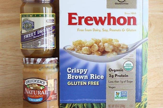 ingredients in peanut butter rice krispie treats