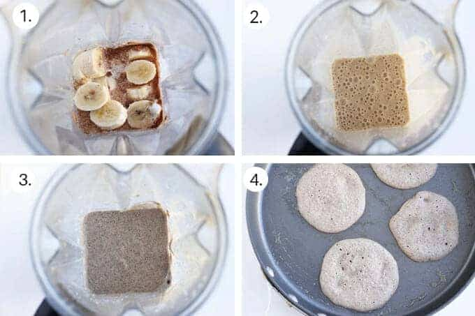 how to make vegan banana pancakes step-by-step