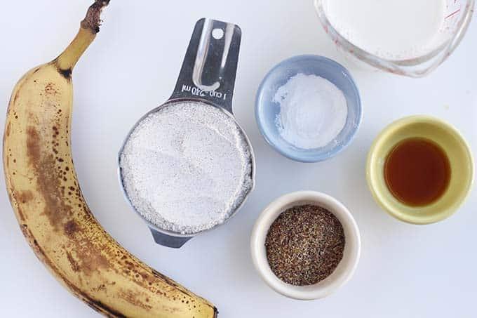 ingredients in vegan banana pancakes