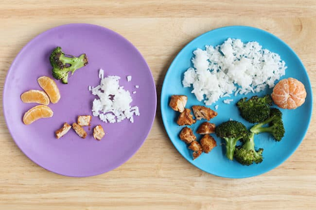 toddler-plates-with-chicken-and-rice