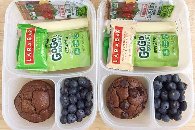 road trip snacks in containers