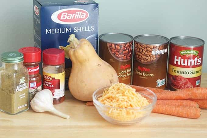 ingredients-in-chili-mac-with-veggies