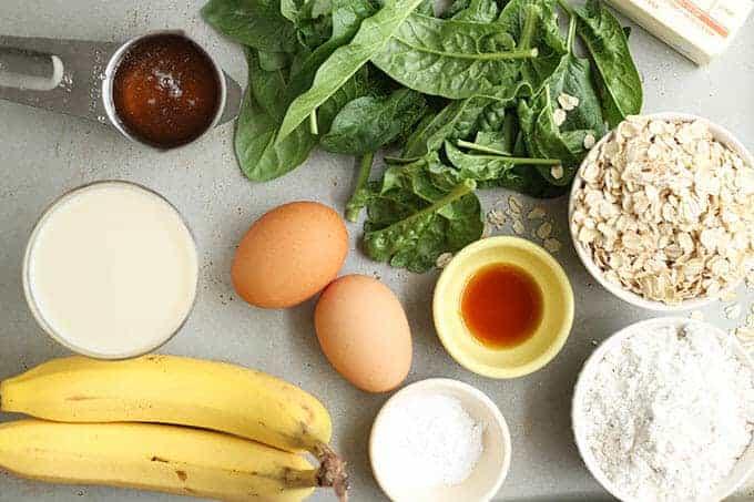 spinach muffins ingredients