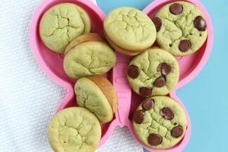 Sweet Green Spinach Muffins with Banana