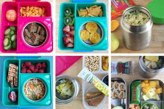 thermos lunch examples in grid