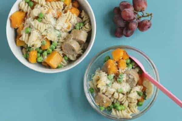 One-Pan Sausage Pasta with Butternut Squash