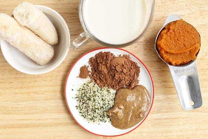 ingredients in pumpkin smoothie