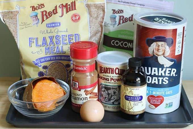 ingredients in sweet potato cookies
