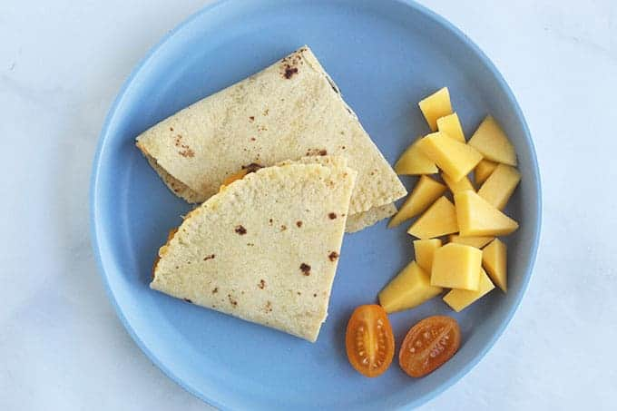 kids-plate-with-quesadiila-and-fruit