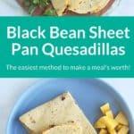 sheet pan quesadillas pin