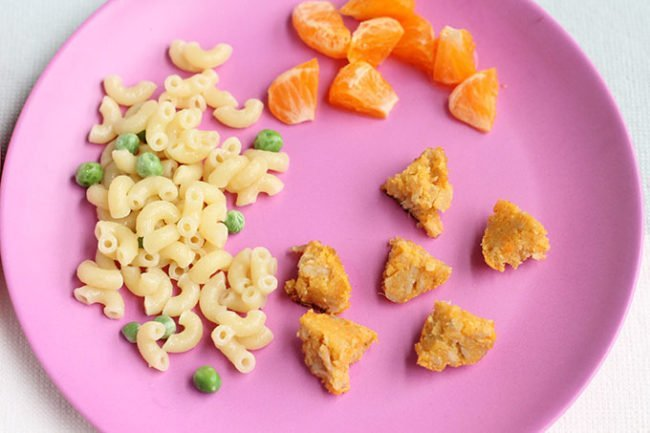 toddler plate of meatballs