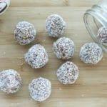 healthy no-bake cookies in jar