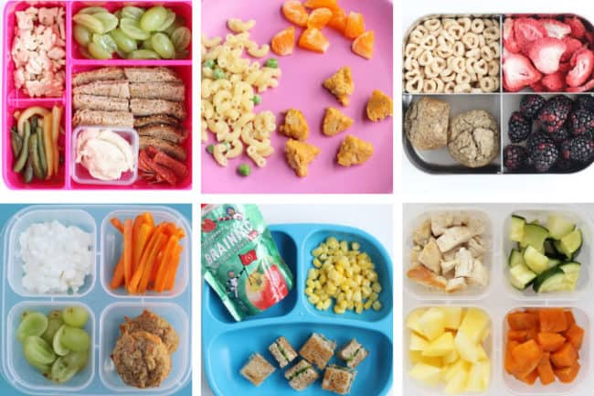 6 lunches for one year olds in grid