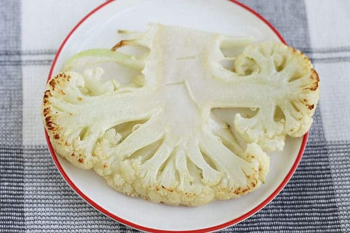 roasted slice of cauliflower