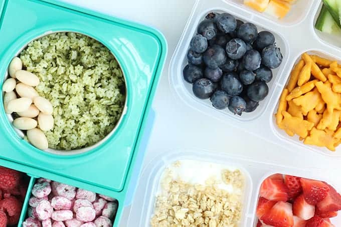 three toddler lunchboxes