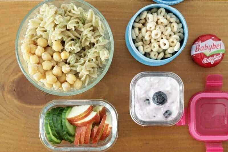 Pesto Pasta with Chickpeas Toddler Lunch