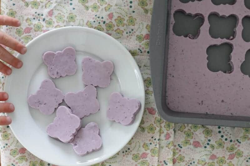 homemade gummies with blueberries and yogurt