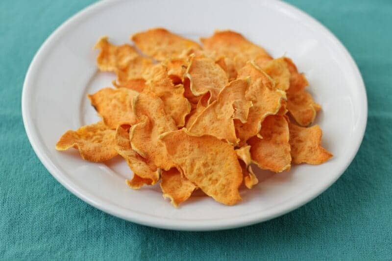 baked sweet potato chips without oil