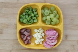 Cheese Plate Toddler Dinner Idea