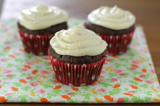 Brownie Cupcakes with Cream Cheese Frosting