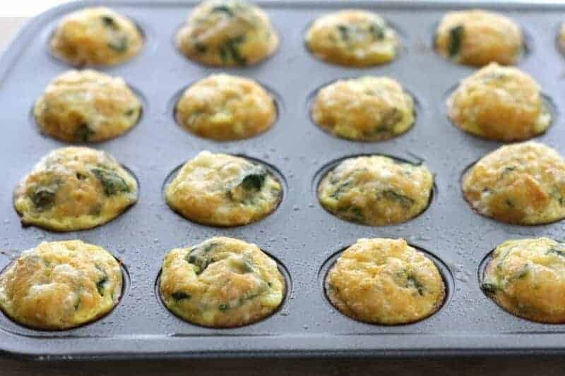 Mexican Egg Muffins with Spinach  baked