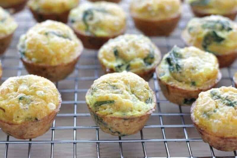 Mini Egg Muffins with Spinach