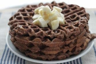 Easy Banana Waffles with Cocoa Powder
