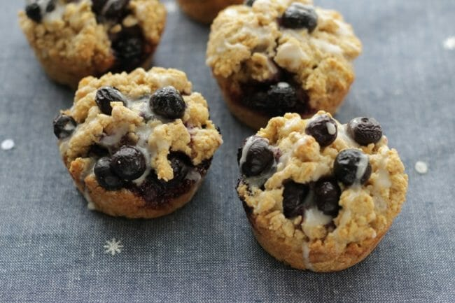 Easy Blueberry Muffin-Tin Scones