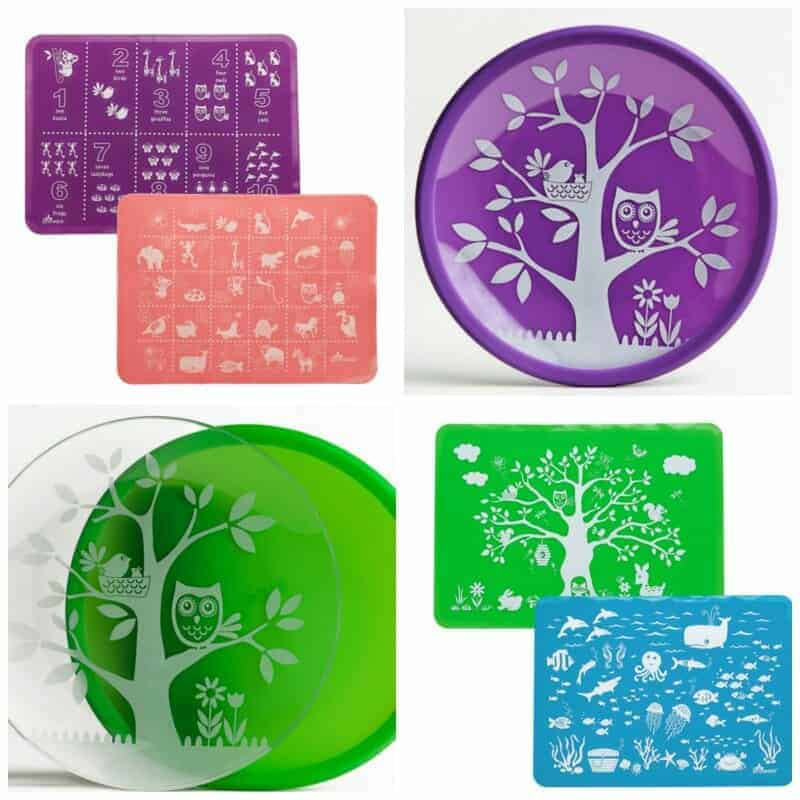 Brinware Silicone Placemats and Plates for Toddlers