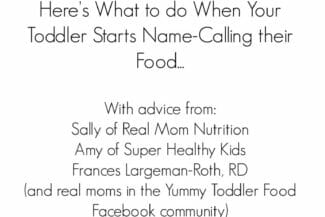 What to Do When Toddlers Call Food Yucky