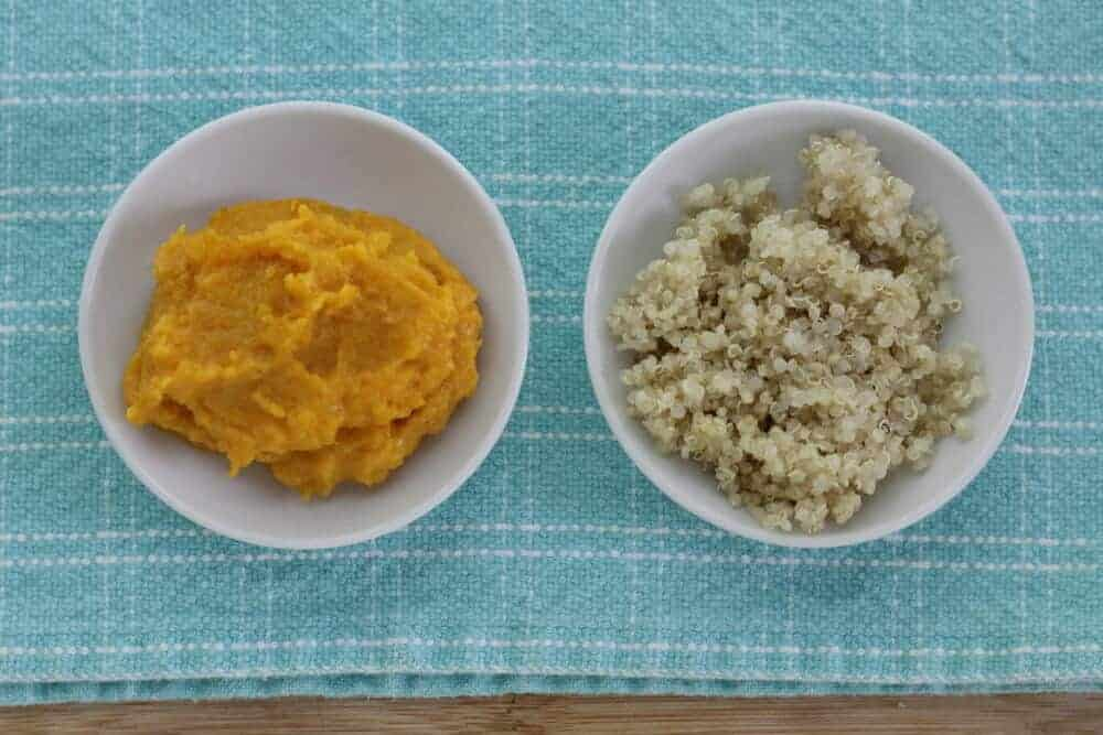 mashed butternut squash with quinoa