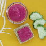 beet and yogurt puree