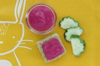 Beet and Yogurt Puree (or Spread) for Babies